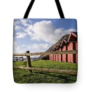 Beach Huts At Branscombe Tote Bag