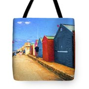 Beach Huts At Cromer Tote Bag