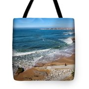 Beach In Resort Town Of Estoril Tote Bag