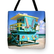 Beach Life In Miami Beach Tote Bag