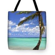 Beach Of A Tropical Island Tote Bag