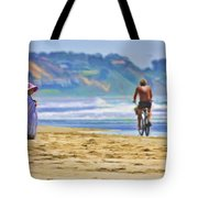 Beach Of Life Large Crop Tote Bag