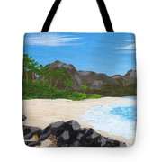 Beach On Helicopter Island Tote Bag