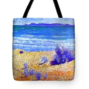 Beach On The Mediterranian Tote Bag