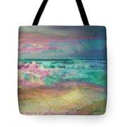 Beach  Overcast Tote Bag
