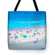Beach Painting - Happy Days Tote Bag