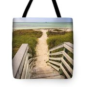 Beach Path Tote Bag by Adam Romanowicz