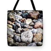 Pebbles On Beach Tote Bag