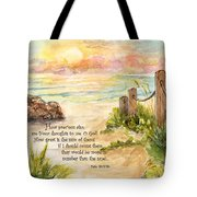 Beach Post Sunrise Psalm 139 Tote Bag