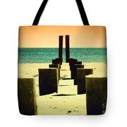 Beach Pylons Tote Bag