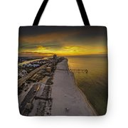 Beach Road Sunrise Tote Bag