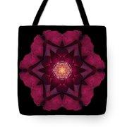 Beach Rose I Flower Mandala Tote Bag by David J Bookbinder