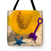 Beach Sand Pail And Shovel Tote Bag