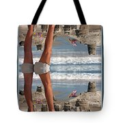 Beach Scene Tote Bag by Betsy Knapp
