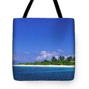 Beach Scene Maldives Tote Bag