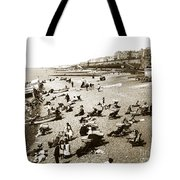 Beach Sean France  Circa 1900 Tote Bag