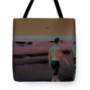 Beach Solar Series Xi Woman Swimming Usa Tote Bag