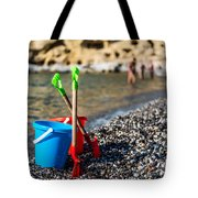 Beach Toys Tote Bag by Luis Alvarenga
