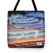 Beach Umbrella Rainbow 4 Tote Bag