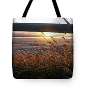 Beach Under Fence Tote Bag