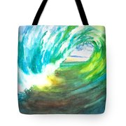 Beach View From Wave Barrel Tote Bag