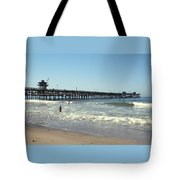 Beach View With Pier 2 Tote Bag