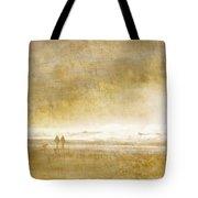 Beach Walk Square Tote Bag