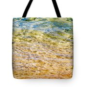 Beach Water Abstract Tote Bag