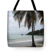 Beach With Palm Tree Tote Bag