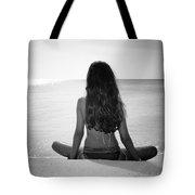 Beach Yoga Tote Bag