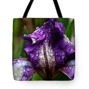 Beaded Iris Tote Bag