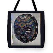 Handbeaded Mask Mexico Tote Bag