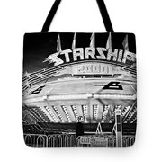 Beam Me Up Scotty Bw Tote Bag
