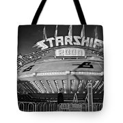 Beam Me Up Scotty Monochrome Tote Bag