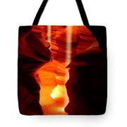 Beams Of Light In Antelope Canyon Tote Bag
