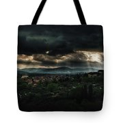 Beams Of Light Over Florence Tote Bag