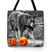 Bear And Pumpkins Too Tote Bag
