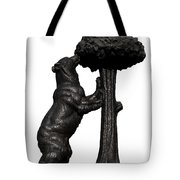 Bear And The Madrono Tree Tote Bag by Fabrizio Troiani