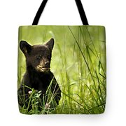 Bear Cub In Clover Tote Bag