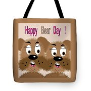 Bear Day Card Tote Bag