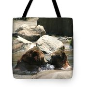 Bear Smooches Tote Bag