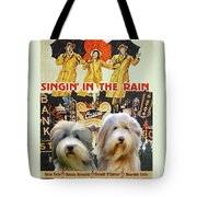 Bearded Collie Art Canvas Print - Singin In The Rain Movie Poster Tote Bag