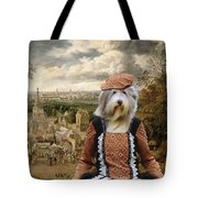 Bearded Collie Art Canvas Print Tote Bag