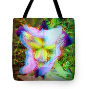 Bearded Iris Cultivar - Use Red-cyan 3d Glasses Tote Bag