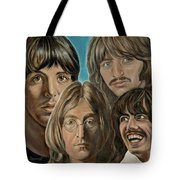 Beatles The Fab Four Tote Bag