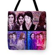 Rainbow Beatles Design Trio Tote Bag