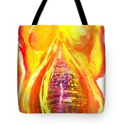 Beau Flambeau A Fire Girl Tote Bag