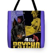 Beauceron Art Canvas Print - Psycho Movie Poster Tote Bag