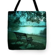Beaufort South Carolina Surreal Ocean Inland Scene Tote Bag by Kathy Fornal