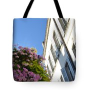 Windows With Flowers Tote Bag